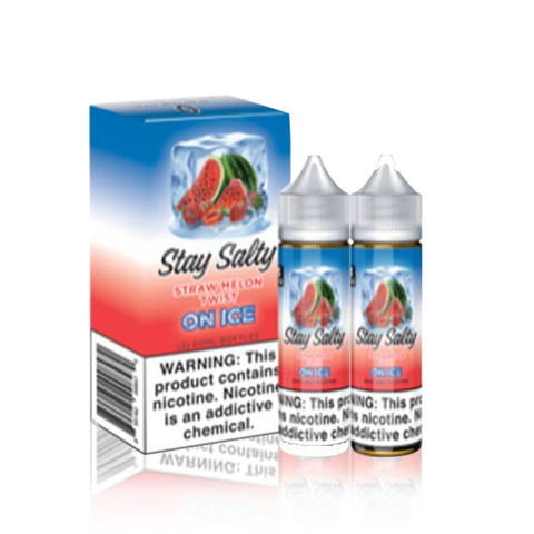Straw Melon Twist On Ice - Stay Salty E Liquid