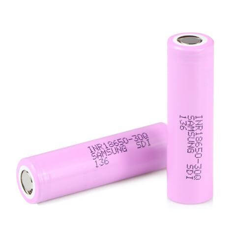 18650 30Q Pink Battery (2 Pack) - Samsung