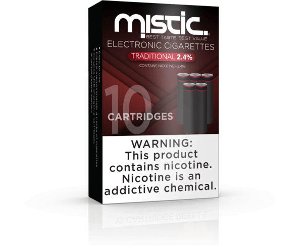 Mistic Traditional 10 Pack Replacement Cartridges – 2.4% Black Edition - Mistic - Mistic