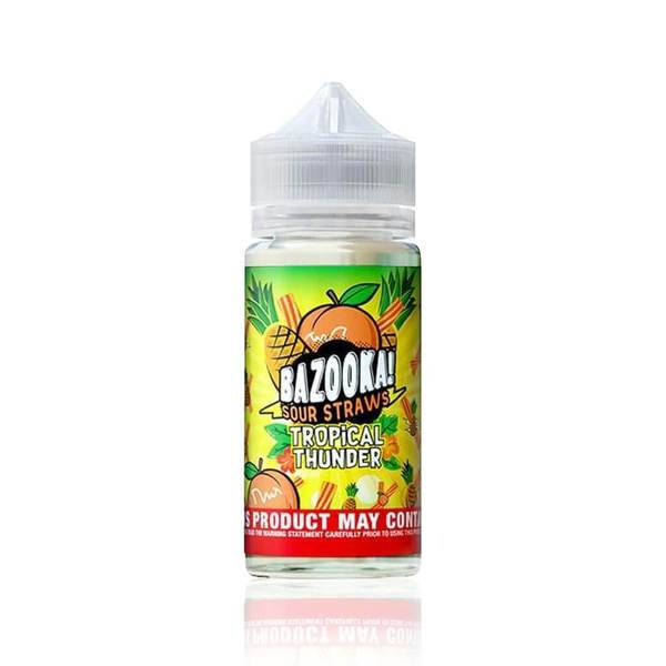 Rainbow Tropical Thunder  - Bazooka Sour Straws E Liquid