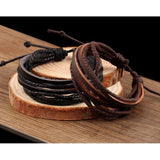 Edgy Leather Wrap BraceletJewelryLuna Daze