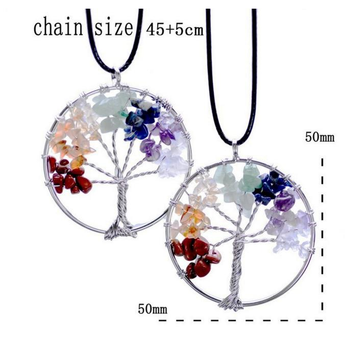 Crystal Tree of Life NecklaceJewelryLuna Daze
