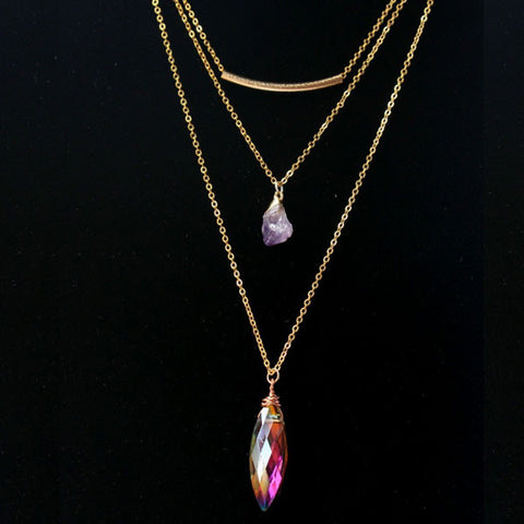 Layered Amethyst NecklaceJewelryLuna Daze