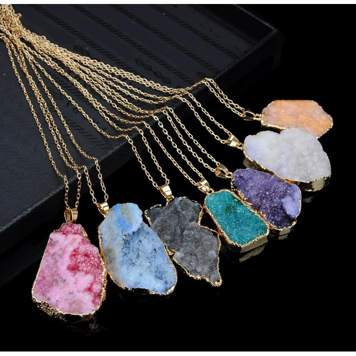 Druzy Gemstone NecklaceJewelryLuna Daze
