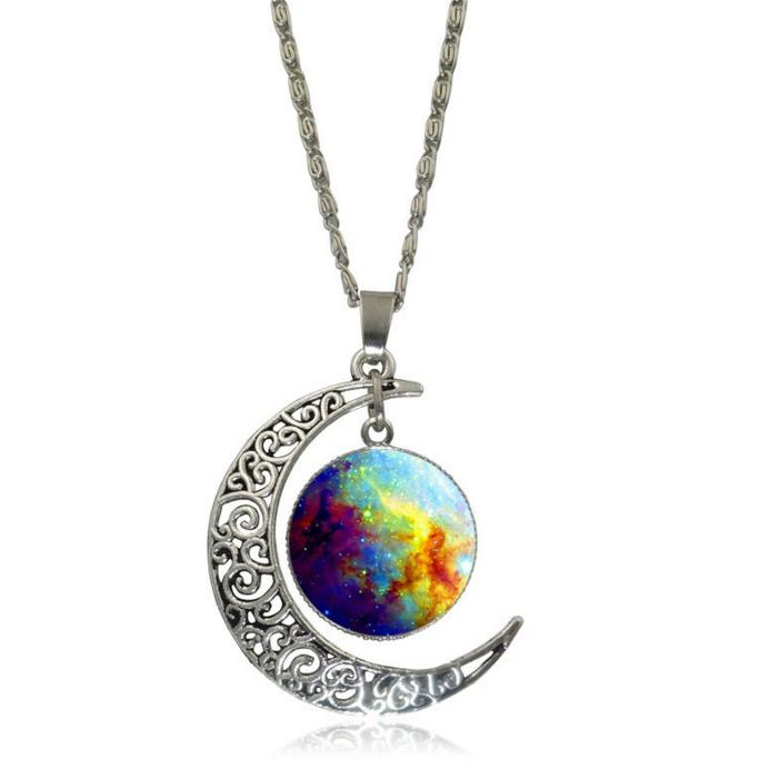 Galactic Moon NecklaceJewelryLuna Daze