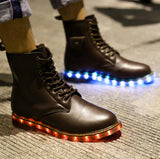 Light Me Up Combat Boots For MenLuna Daze