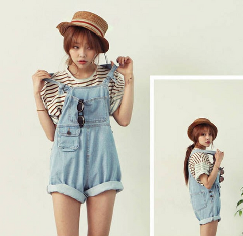 Loose Denim Overalls - Luna Daze
