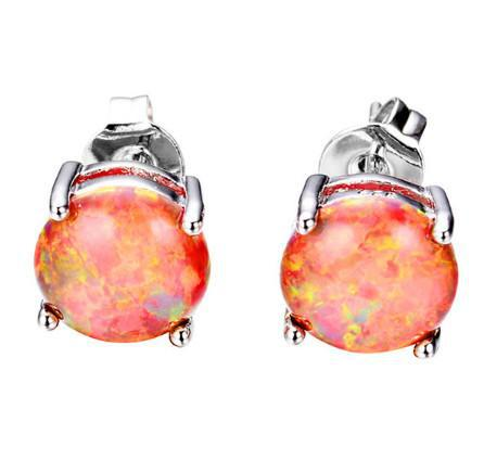 Australian Fire Opal Earrings, Luna Daze