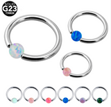 Fire Opal Body Piercing Ring, Luna Daze