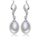 Elegant Pearl Drop Earrings, Luna Daze