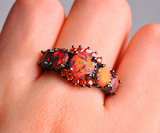 Orange Fire Opal & Garnet RingJewelryLuna Daze