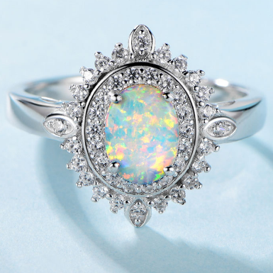 Royal Mirror Opal Ring