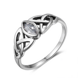 Celtic Silver Gemstone Ring