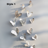 Elegant Gold & Silver Butterfly Stickers/ Magnets