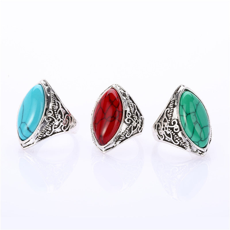 Bohemian 2pc Ring Set, Luna Daze