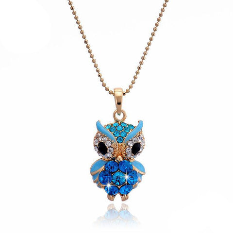 Crystal Owl Necklace - Luna Daze