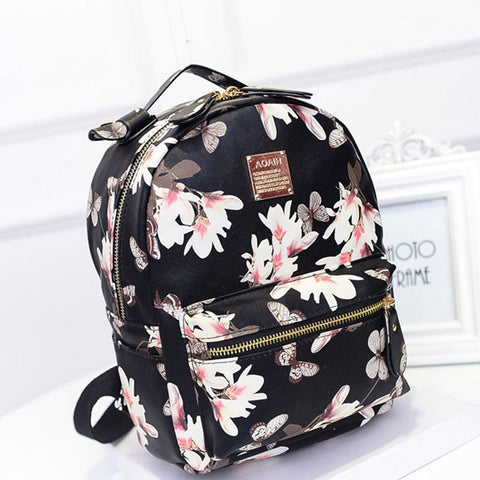 043ae38ec7ec ... Floral Leather Backpack