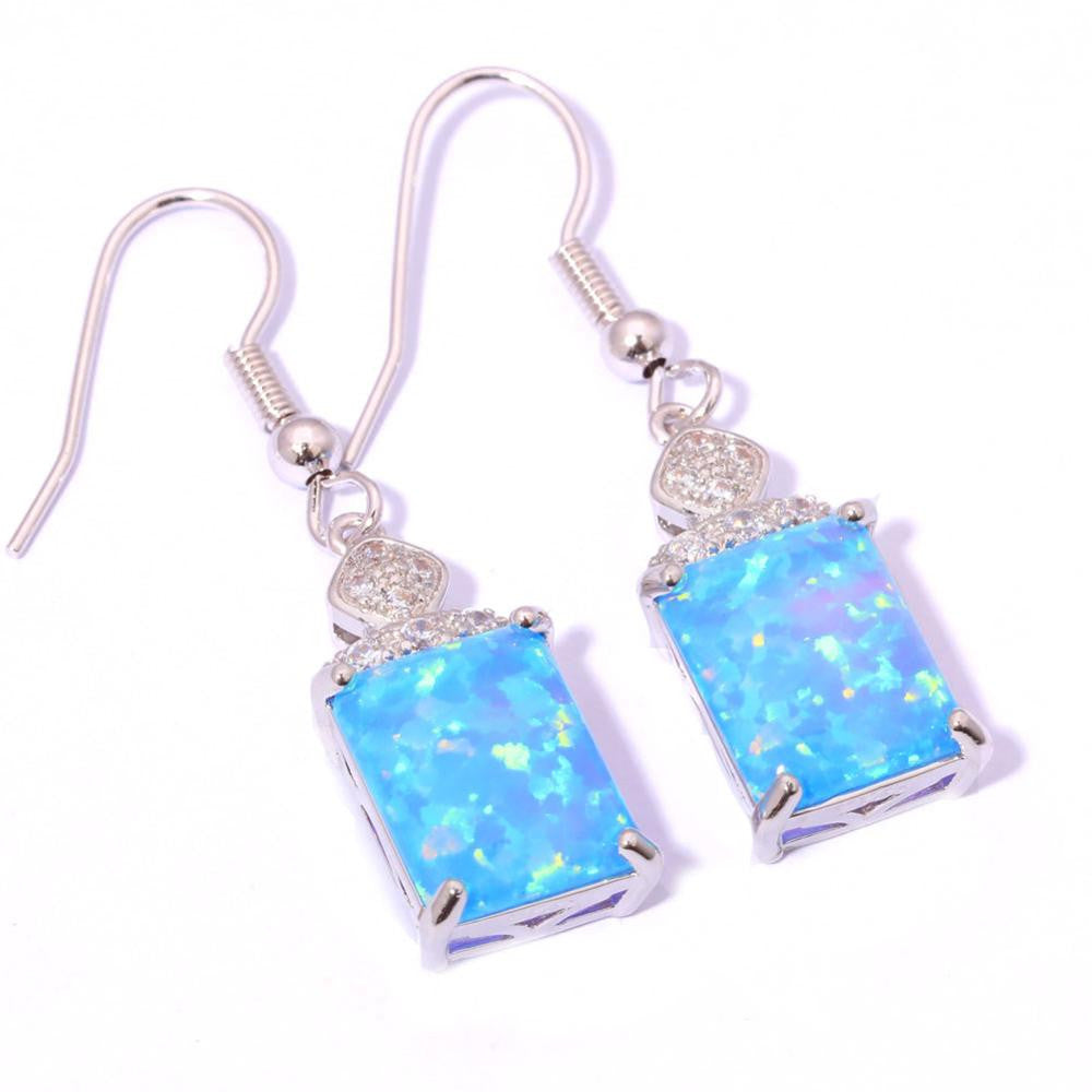 Blue Fire Opal Earrings, Luna Daze