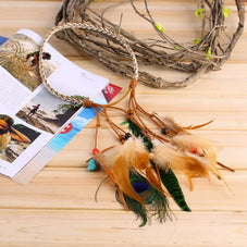 Boho Feather Headband, Luna Daze