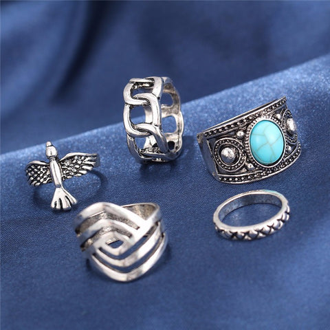 Free As A Bird Ring Set