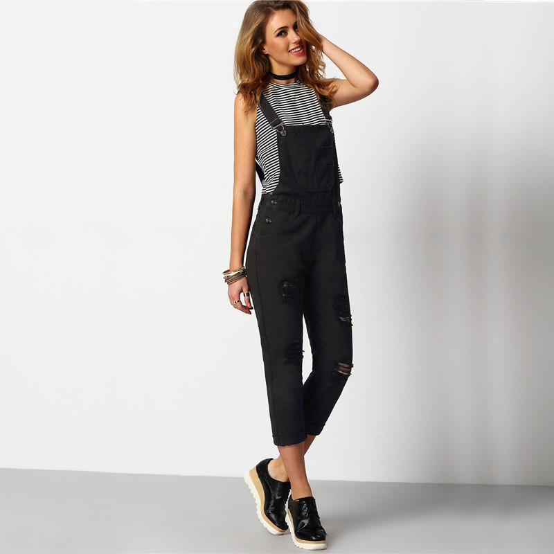 Black Denim Overalls, Luna Daze