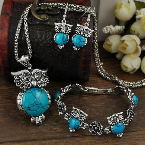 Wise Owl Jewelry Set