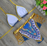 Golden Geometric BikiniLuna Daze