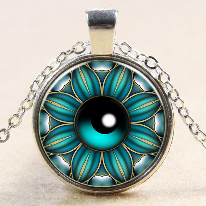 Flower Eye Locket Necklace, Luna Daze
