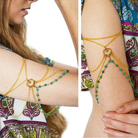 Gypsy Bead Arm Cuff