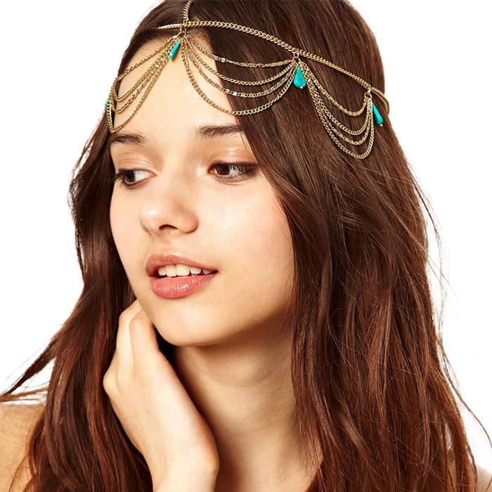 Turquoise HeaddressAccessoriesLuna Daze