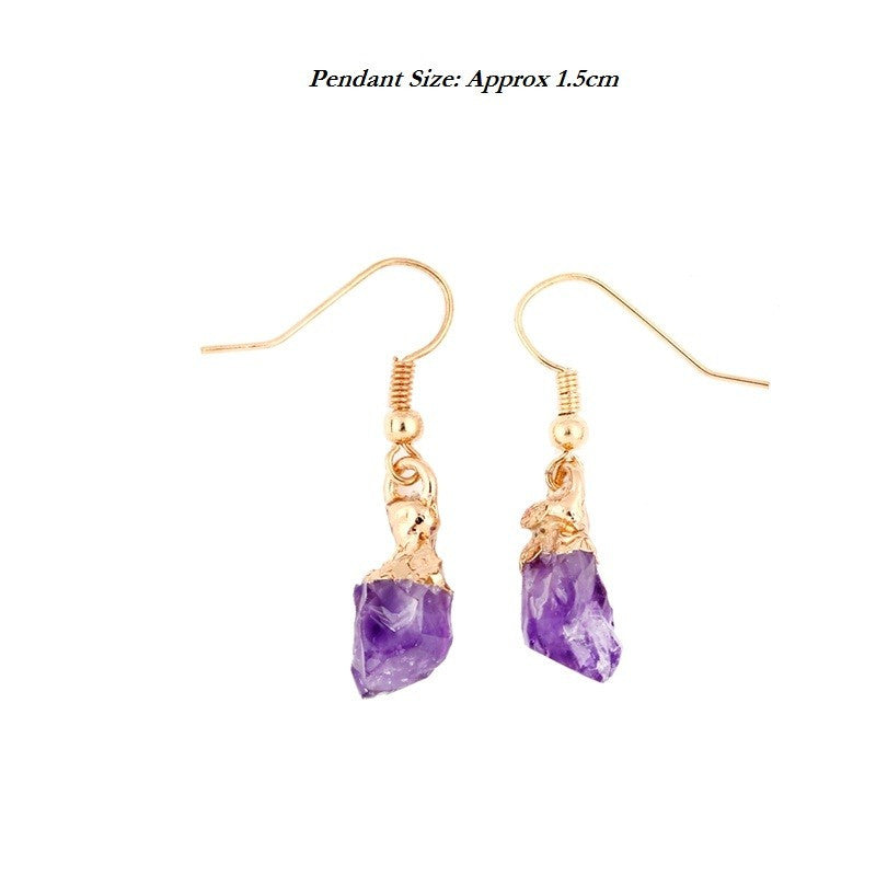 Amethyst Drop Earrings, Luna Daze