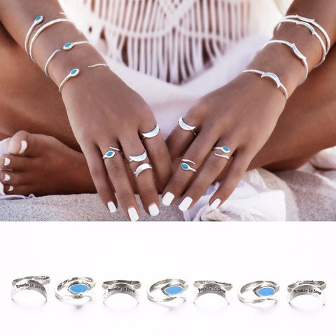Breathe in Love Ring Set