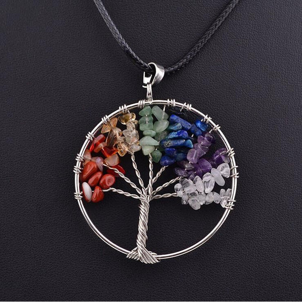 Crystal Tree Of Life Necklace Luna Daze