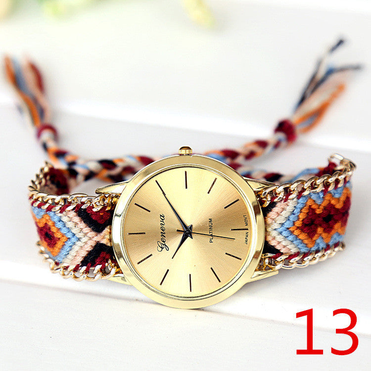 Braided Friendship Watch, Luna Daze