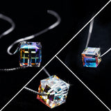 Aurora Cube Necklace, Luna Daze