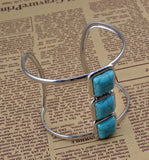 Triple Turquoise Cuff