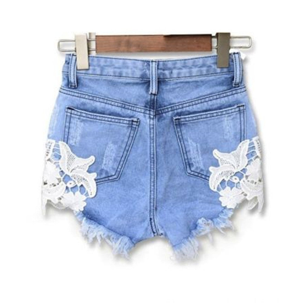 Denim Lace ShortsShortsLuna Daze