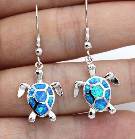 Opal Sea Turtle Earrings