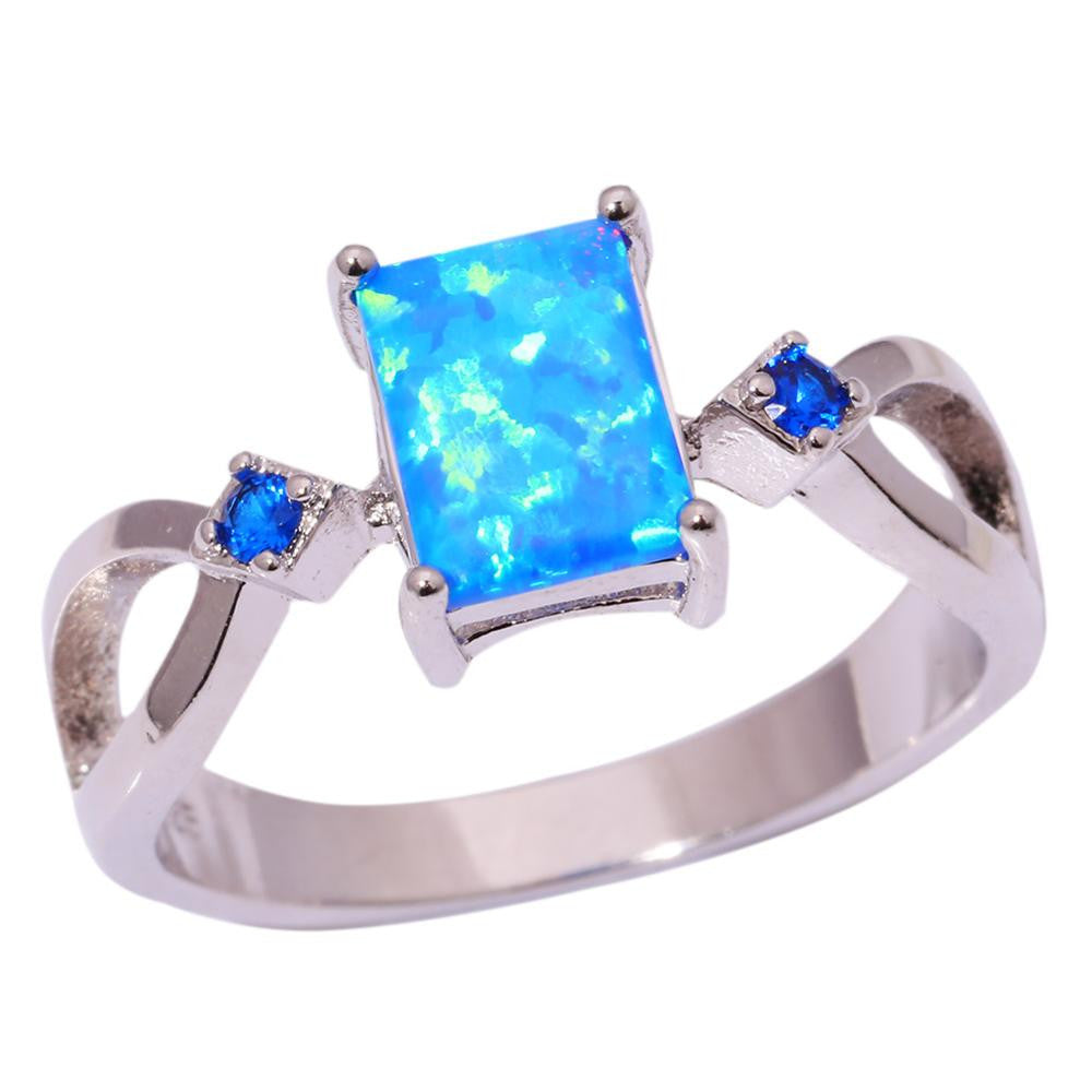 Blue Fire Opal Ring, Luna Daze