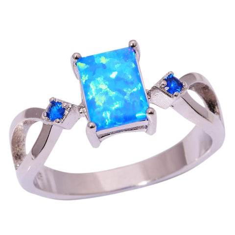 Blue Fire Opal Ring - Luna Daze