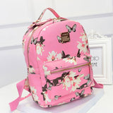 Floral Leather Backpack, Luna Daze
