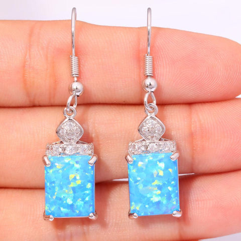 Blue Fire Opal Earrings - Luna Daze