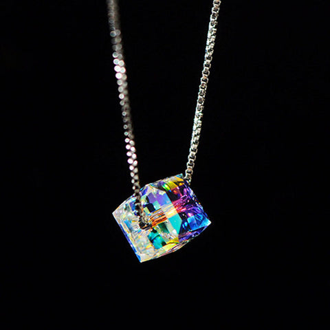 Aurora Cube Necklace - Luna Daze