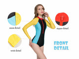 Color Block One Piece - Luna Daze