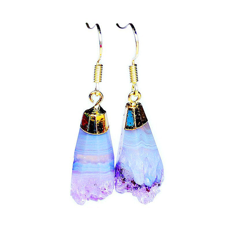 Amethyst Swirl Earrings, Luna Daze