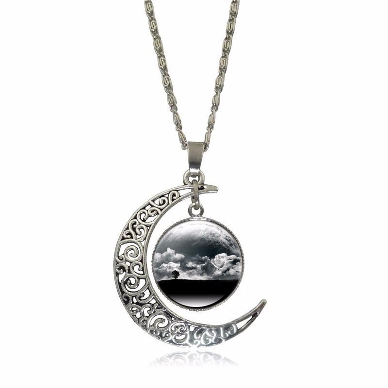 Galactic Moon Necklace, Luna Daze