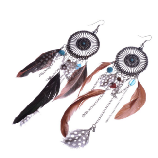 Dreamy Feather EarringsJewelryLuna Daze