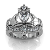 Gemstone Claddagh Ring, Luna Daze