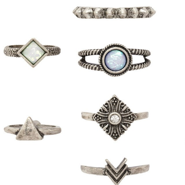 Antique Arrow & Stone Ring Set, Luna Daze