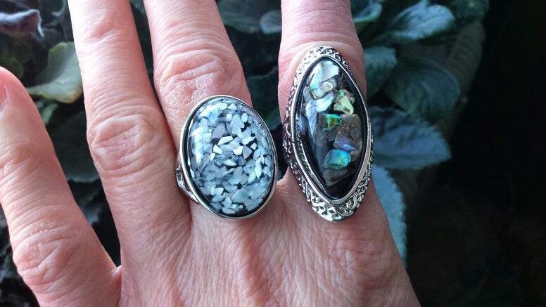 Abalone Shell Ring, Luna Daze